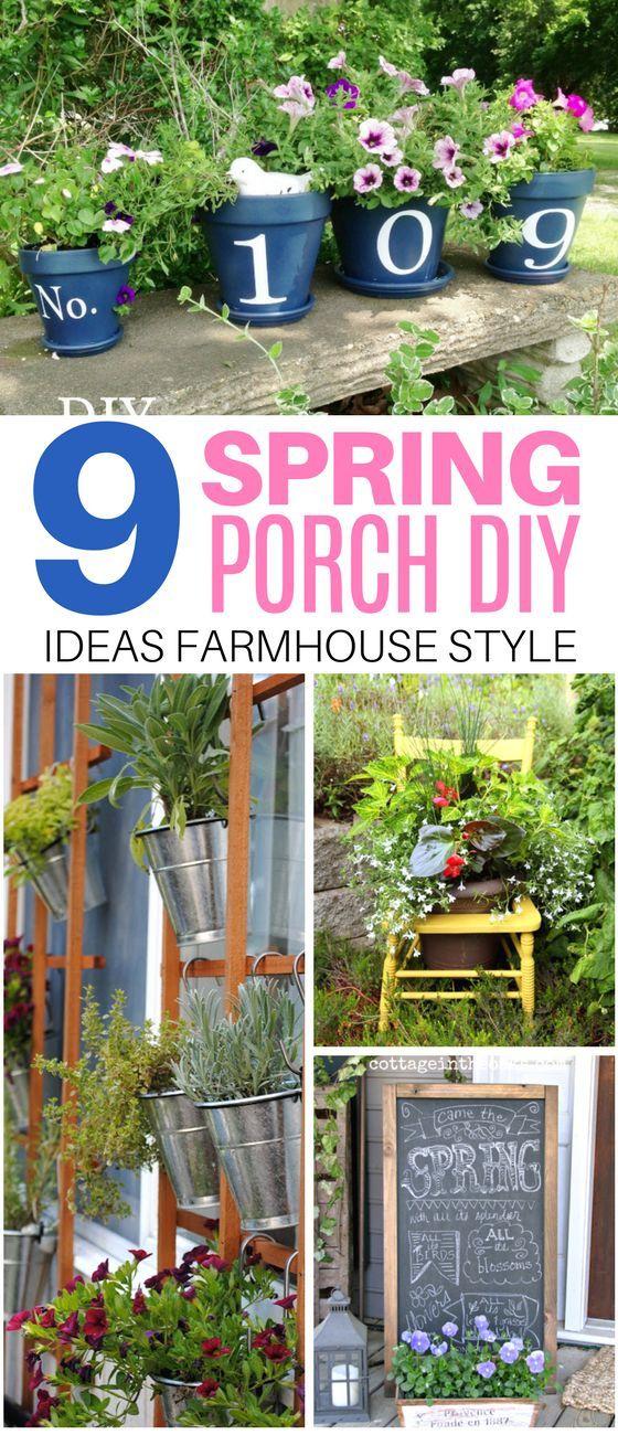 These 9 Farmhouse Spring Porch DIY Ideas Are The Cutest! #farmhouse #diy #spring #porch #decor