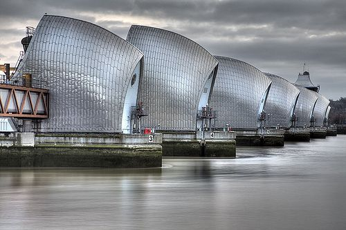 THAMES BARRIER | RIVER THAMES | LONDON | ENGLAND: *Operational Since: 1982; Officially Opened: 8 May 1984; Flood barrier protecting Central London from exceptionally high-tides and storm surges*
