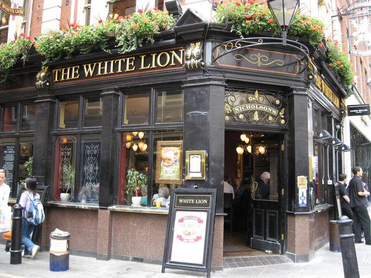 The White Lion, 24 James Street in Covent Garden, London, a Nicholson's Pub est. 1873, a finer real ale pub..
