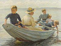 Dette billede minder, om båden der kommer sejlende under broen, med den unge friske kvinde der sidder i. Billede giver en  god visning af den glade stemning der befinder sig i båden, som også gør sig gældende i historien.