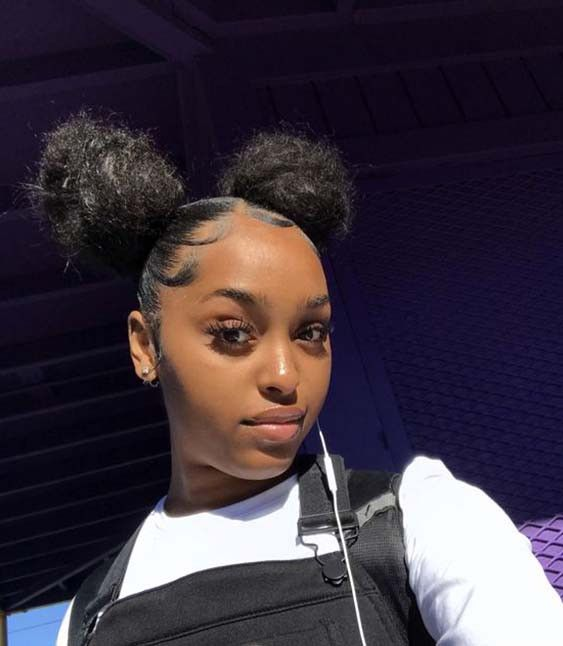 95 Amazing Two Buns Hairstyle 2020 Natural Hair Styles Curly Hair Styles Hair Styles