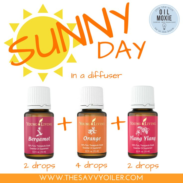 Sunny Day in a Diffuser with Young Living Essential Oils | To read more Spring Diffuser Recipes, click image or visit: http://www.thesavvyoiler.com/top-12-spring-essential-oil-diffuser-recipes/