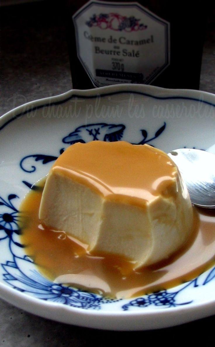 Panna cotta fondante au caramel au beurre salé                                                                                                                                                                                 Plus