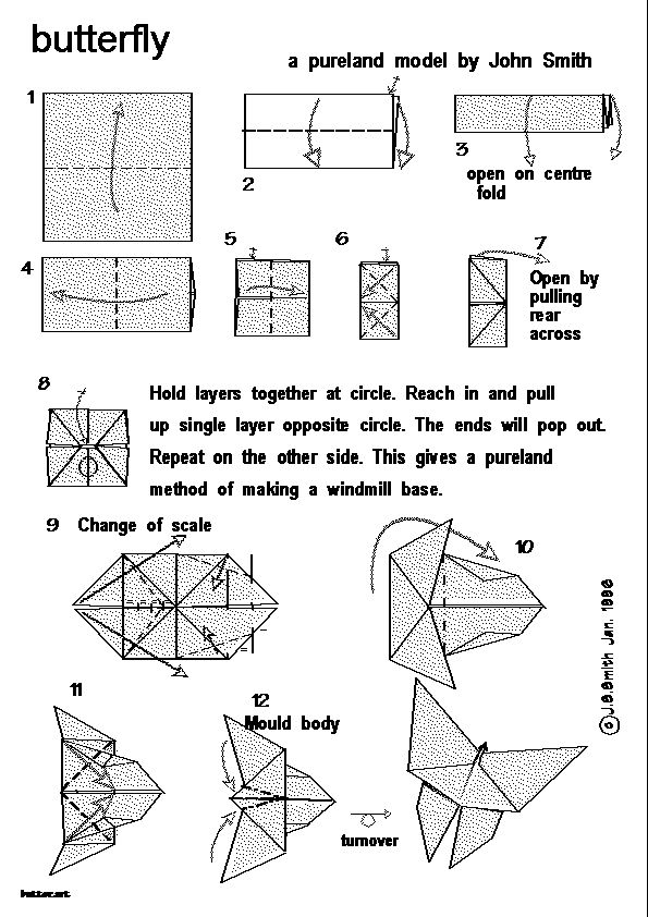 How To Make Origami Butterfly How To Make A Butterfly