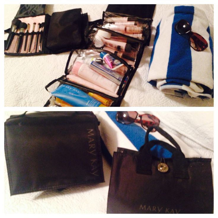 Before and after ! On my way to Mexico with my essentials ! Mary Kay roll up bag AND make up bag have convenient roomy compartments that are detachable and go right into your  bag for easy access . Best of all the rollup bag hangs right behind the door to leave your sink clutter free ! Contact me for yours today www.marykay.com/aryd79  Arelis Dubose  Team Leader & Independent Mary Kay Consultant  917-674-9287 call/text  For facials, skin care parties & orders !