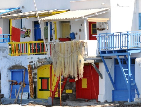 Balconies in Klima, Milos island