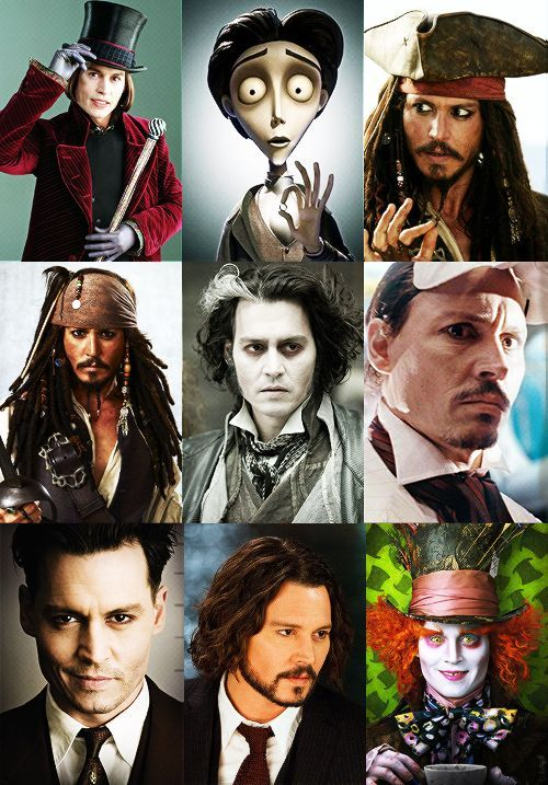 animated Johnny Depp | Johnny Depp Filmography