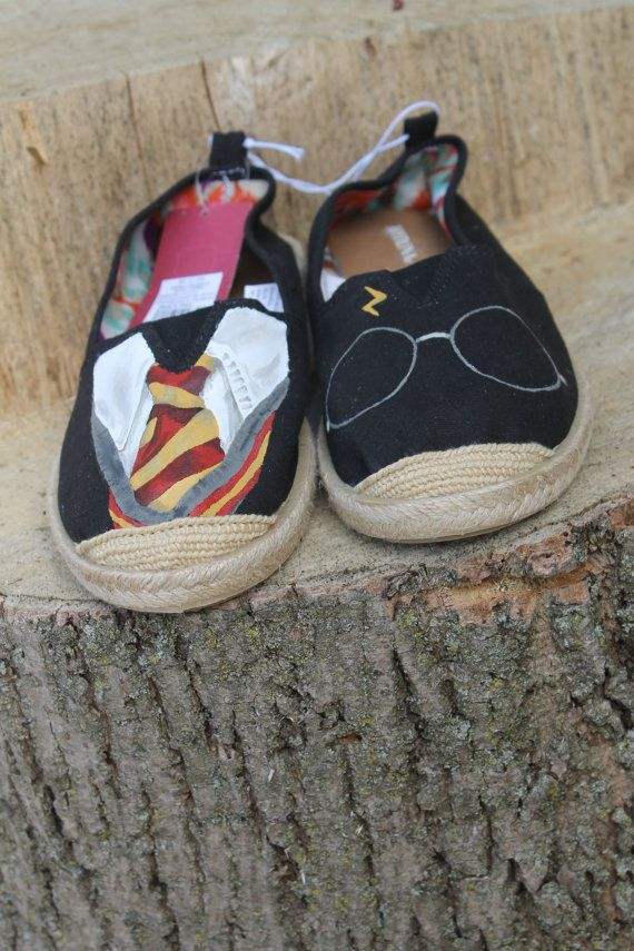 Harry Potter Inspired Hand Painted Shoes by justinachristine