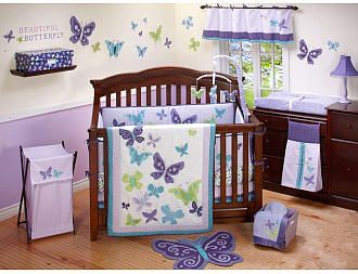 this would be really cute for a little girl too love the butterflies and the purple