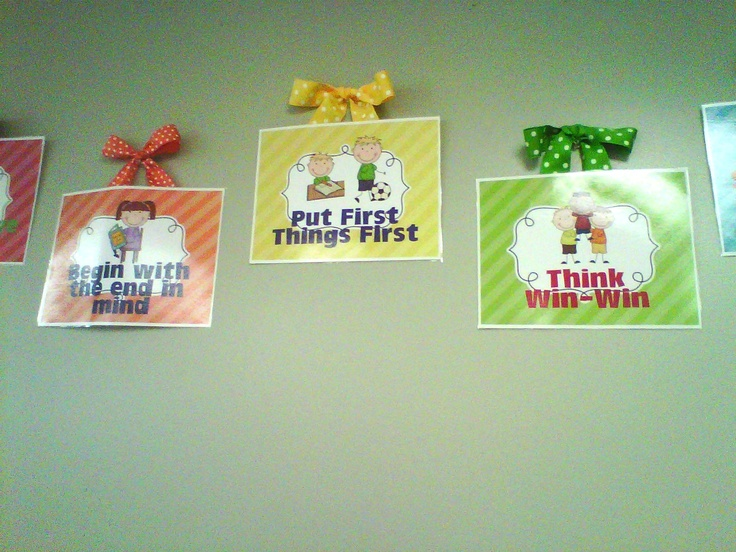 25 best ideas about 7 habits posters on pinterest 7 for 7 habits decorations