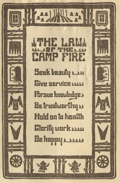 bucolic beauty: Law, Life, Quote, Camps, Girl Scout, Campfire Girls, Campfires