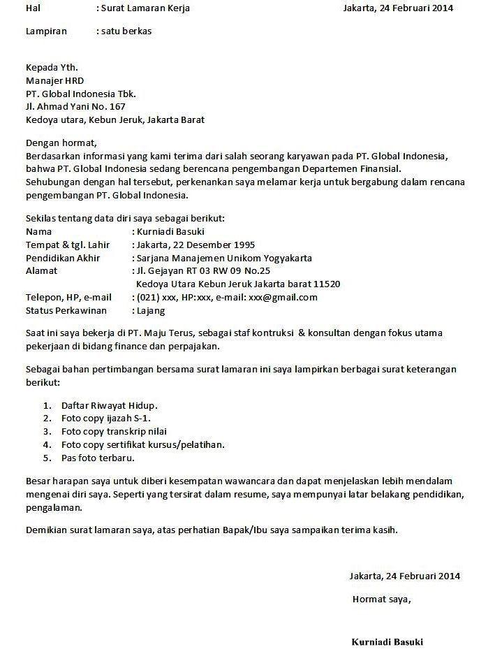 9 Contoh Surat Lamaran Kerja Formal Contoh Lamaran Kerja Dan Cv Formal Education Best 9 Contoh Surat Lamaran Kerja Formal Struktur Teks Riwayat Hidup Kerja