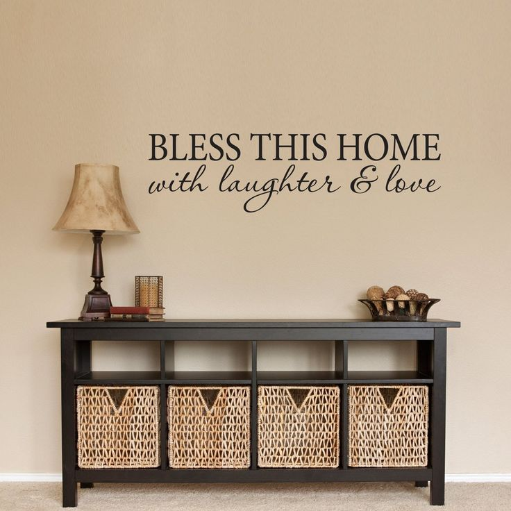 Bless This Home Decal   With Laughter U0026 Love Wall Decal   Home Decal    Medium Part 73