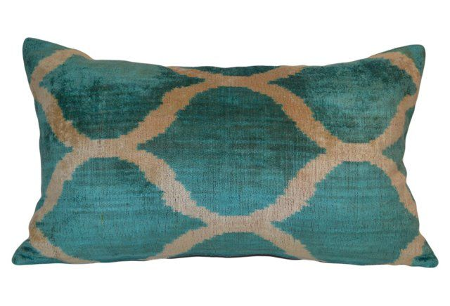 Serenad 16x24 Ikat Pillow, Blue