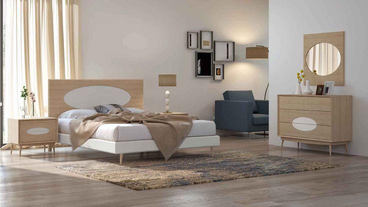 Mobiliário de quarto estilo nórdico Nordic style bedroom furniture www.intense-mobiliario.com  SUNEV http://intense-mobiliario.com/pt/quartos/12717-quarto-sunev-.html