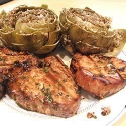 Tuna steaks are a perfect candidate for grilling, and a sweet, tangy marinade keeps them moist and flavorful.