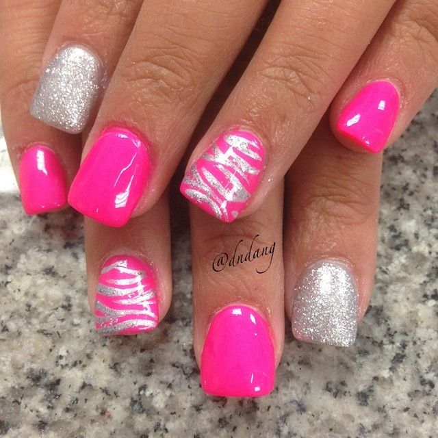 The 123 best images about simple pink nail designs on pinterest instagram media by dndang nail nails nailart pink glitter nailshot prinsesfo Images