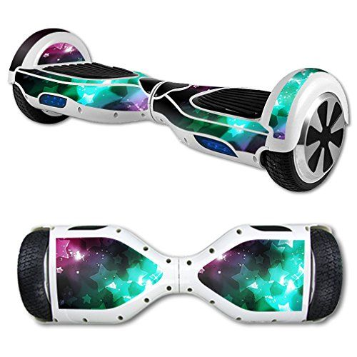 MightySkins Protective Vinyl Skin Decal for Hoverboard Self Balancing Scooter mini hover 2 wheel unicycle wrap cover sticker Glow Stars