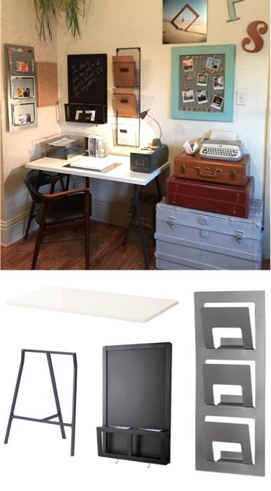 This Ikea Share Space Fan Made Great Use Of A Small Space And Make It Into Office Hacksoffice Ideasfamily Officehome