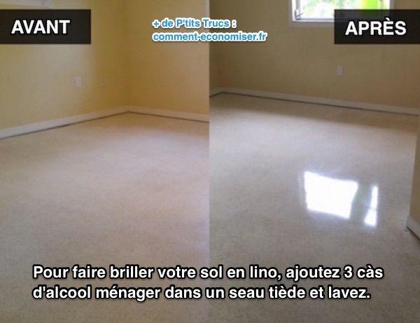 Heureusement, il existe un produit pour raviver votre sol en linoléum. L'astuce est d'utiliser de l'alcool ménager.  Découvrez l'astuce ici : http://www.comment-economiser.fr/astuce-pour-faire-briller-sol-linoleum-instantanement.html?utm_content=bufferbdea9&utm_medium=social&utm_source=pinterest.com&utm_campaign=buffer