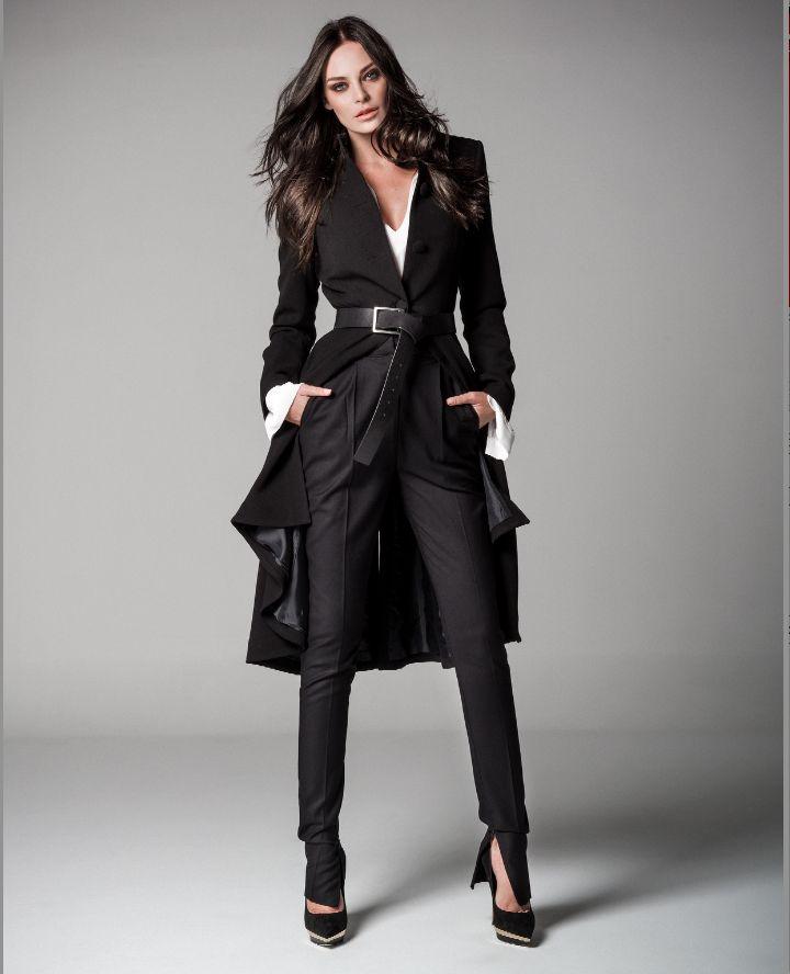 BLACK| COAT| Be You by Yvonne campaign http://www.beyoubyyvonne.com/en/shop/coat-blazer/ankle-length-waisted-coat.html