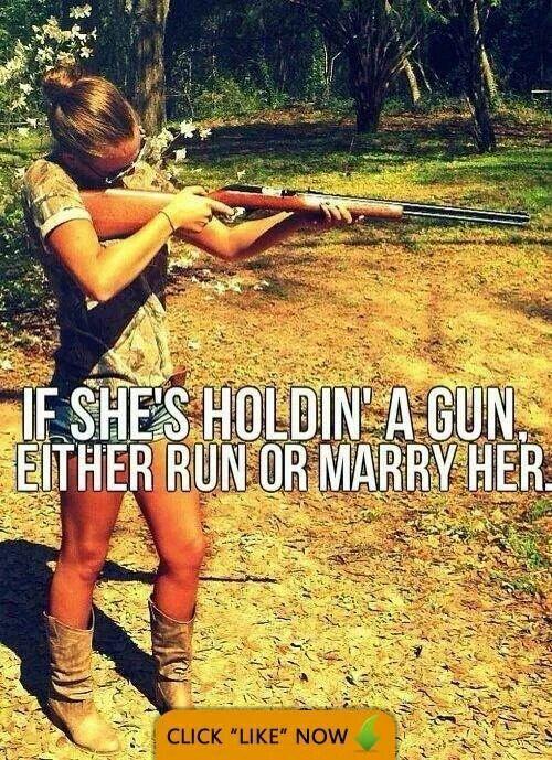 Woman and guns