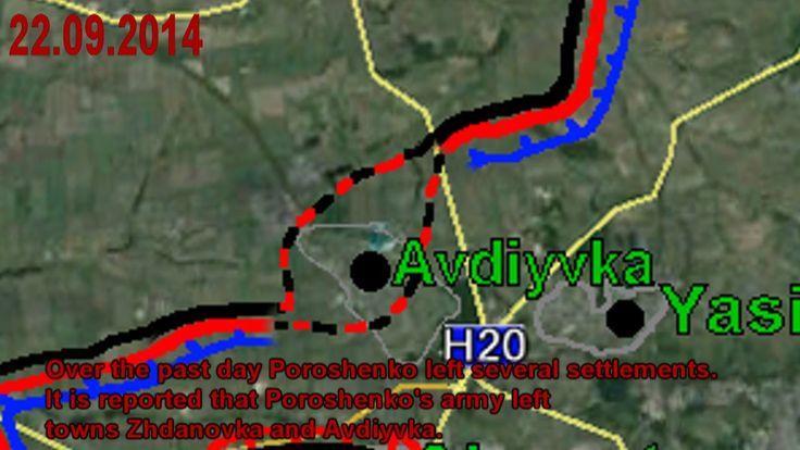 War in Ukraine 22/09/2014 The Map Lugansk-Donetsk-Mariupol The current s...