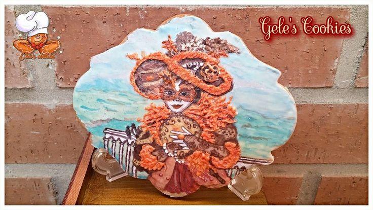 Galleta carnaval en Venecia  Royal icing