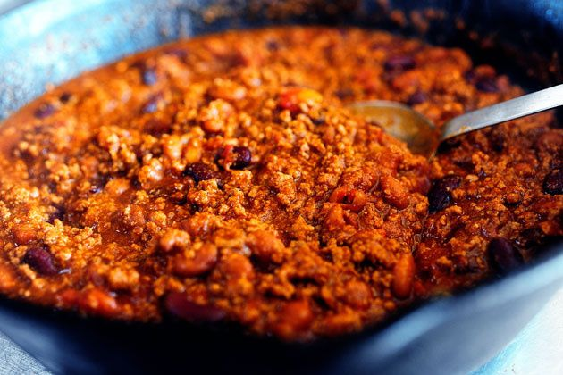Pioneer Woman Frito Chili. Update: not Texas chili but still very good! Changes - one lb. ground beef and one can of beans.