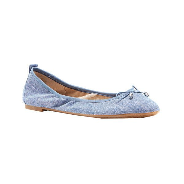Women's Jessica Simpson Nalan Ballet Flat ($40) ❤ liked on Polyvore featuring shoes, flats, casual, ballet pumps, ballet flats, blue flats, bow ballet flats and blue ballet flats