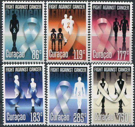 Francobolli - Lotta contro il cancro - Fight against cancer Stamps Curacao 2014