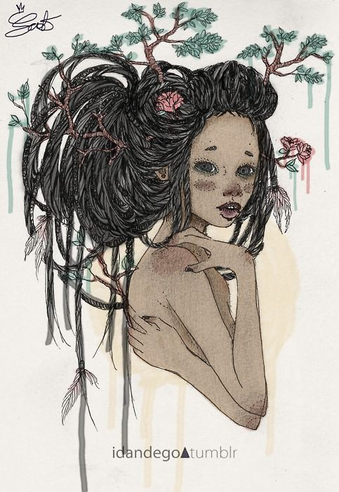 dread girl; more greeneries and a different face  would make a beautiful Mother Nature