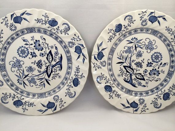Johnson Brothers Blue Nordic Plates English Ironstone