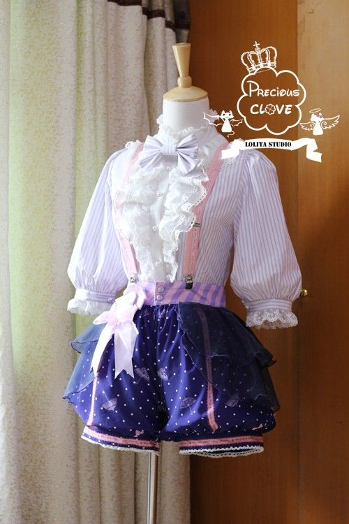 Precious Clove ***Singing in the rain*** Ouji Short Pants $ 79.99 - My Lolita Dress