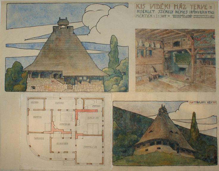 Kós Károly: Kis vidéki ház terve