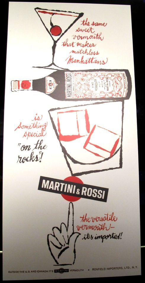 Vintage Martini Rosso Advert