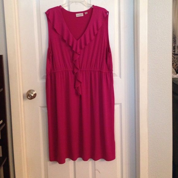 Fuschia dress This is a beautiful colored dress and look great on. Avenue Dresses