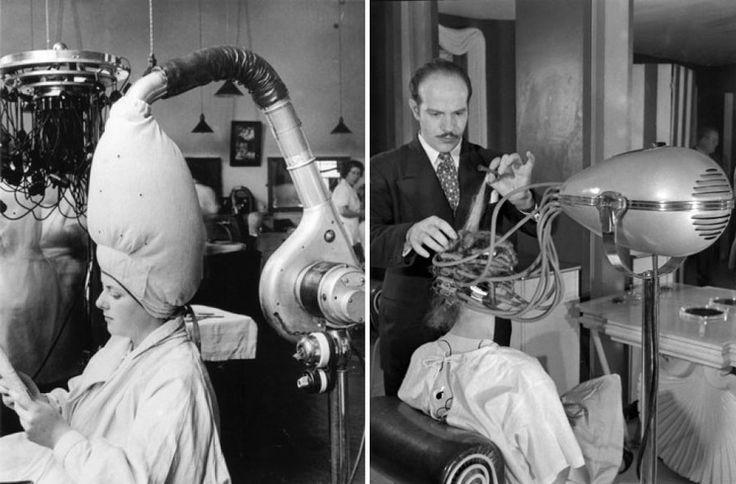 Dark Roasted Blend: Sleek Vintage Salon Hair Dryers