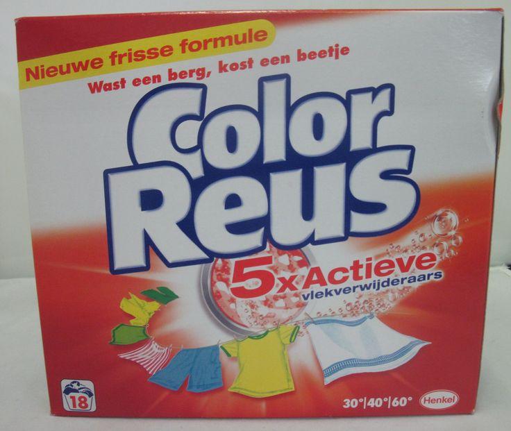 Witte Reus Color Reus waspoeder 18 wasbeurten - 1.26 kg  Description: Color Reus waspoeder 18 wasbeurten - 1.26 kg Heeft u hardnekkige vlekken in uw wasgoed die er niet meer uit willen? Dan heeft Color Reus de perfecte oplossing voor u! Met Color Reus Waspoeder zijn alle hardnekkige vlekken verleden tijd! De vlek detector formule is reuzenkrachtig maar heel zacht voor uw wasgoed. Het maakt uw was grondig schoon en het is ook waslijnfris na elke wasbeurt. De Color Reus waspoeder is geschikt…