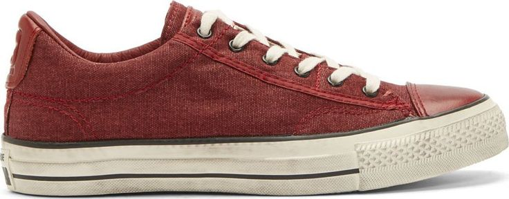 Converse by John Varvatos - Red Chuck Taylor Distressed Canvas Low Top Sneakers