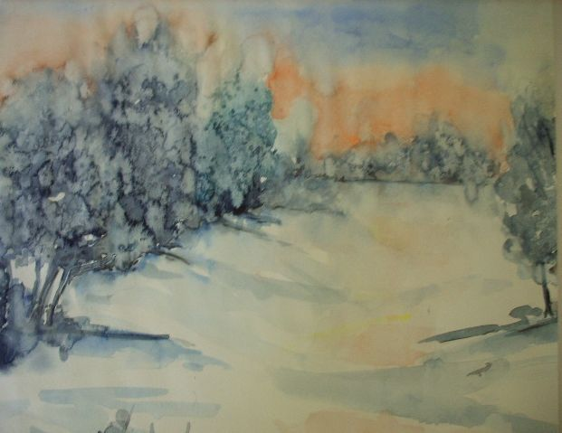 Aquarell Winter  © by Maria Földy