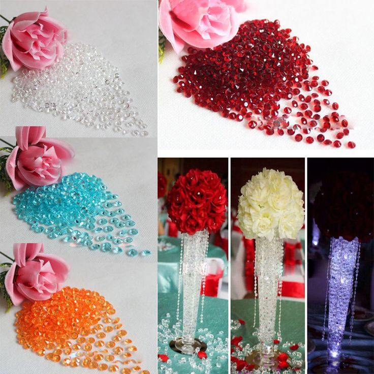 1000PCS 4.5mm DIY Wedding Party Festive Decor Bling Transparent Acrylic Crystals