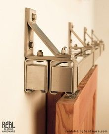 Stainless Box Rail Bypass Barn Door Hardware OK, this explains it!, and can be hidden!