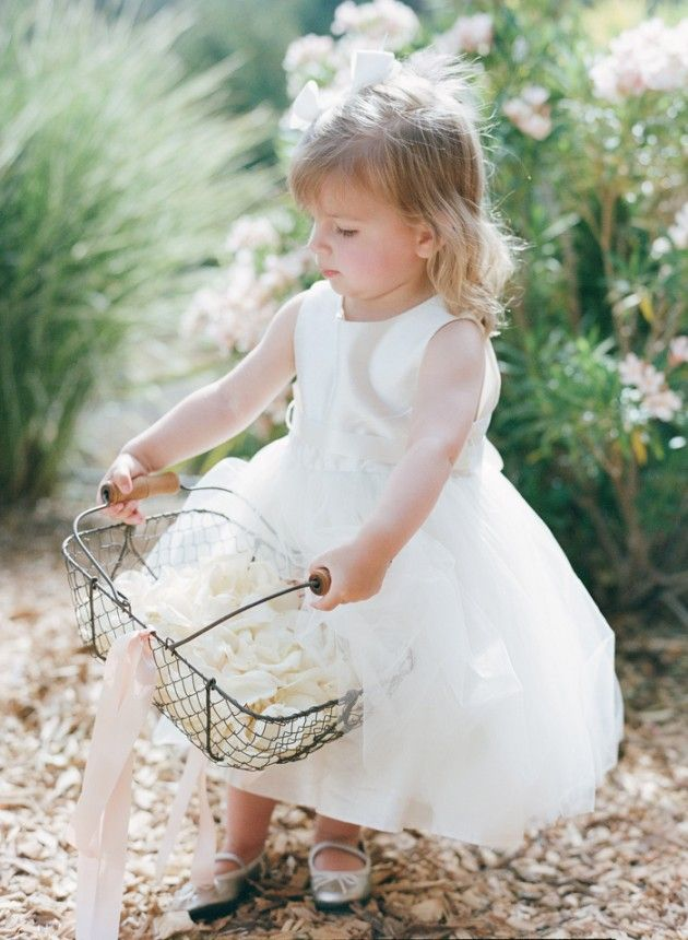 planning, styling & design by l'relyea events- photos by Silvy Gil. Featured in Grey Likes Weddings @calistogaranch #flowergirl #basket #flowers
