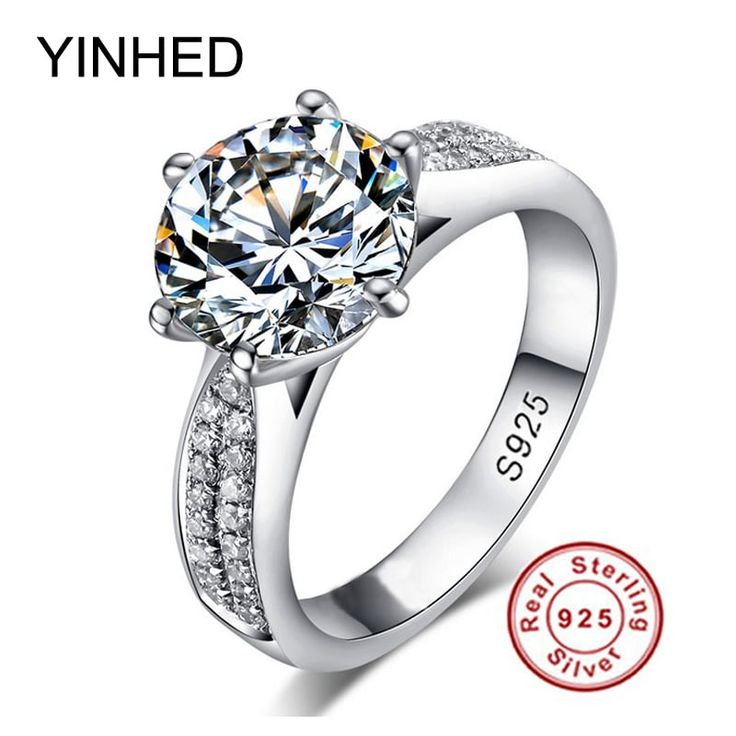 YINHED Classic Engagement jewelry Zirconia Wedding Ring //Price: $17.95 & FREE Shipping //     #me