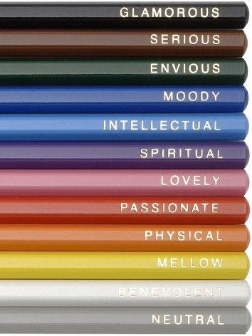 Colored pencil mood spectrum by color