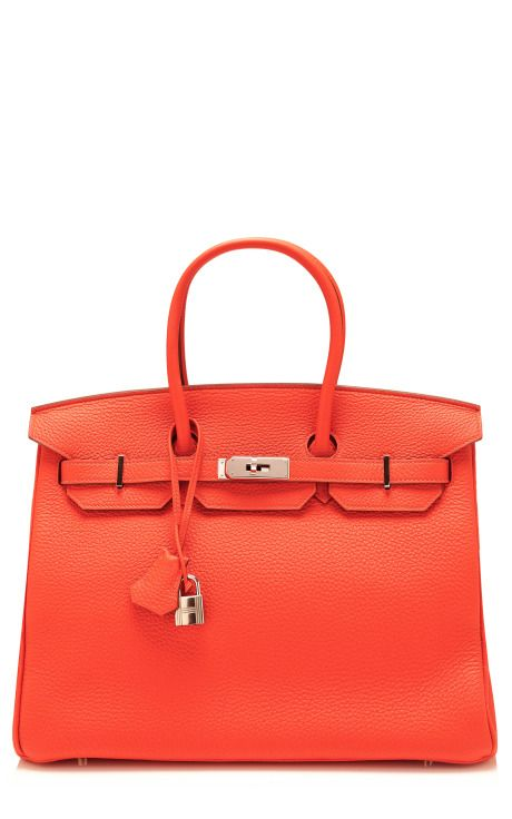 Vintage Hermès 35Cm Capucine Clemence Leather Birkin by Heritage Auctions Special Collections for Preorder on Moda Operandi