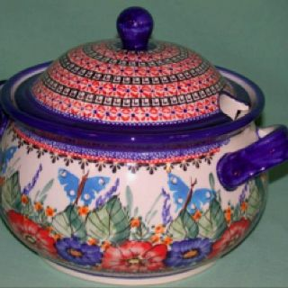 """Love this pattern! Our local Polish Pottery store carries it. I think they said it was called """"Butterfly Garden"""""""