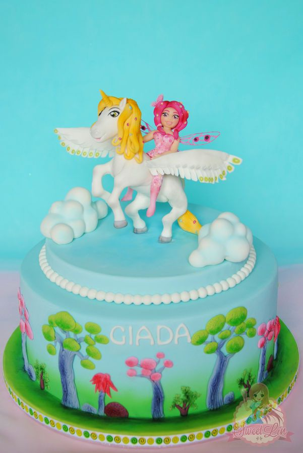 Mia and Me Cake for birthday party of Giada