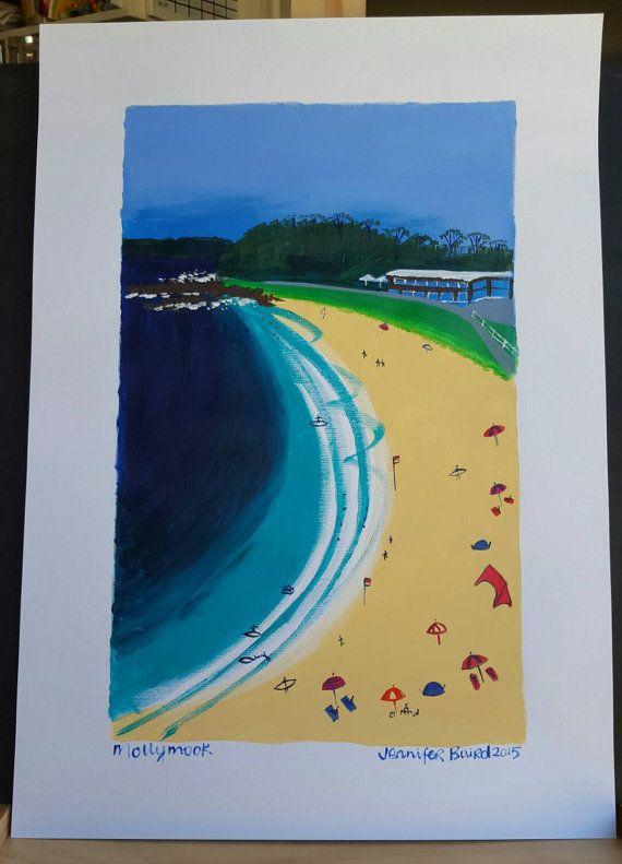 Mollymook Beach. by FifthSeasonArtworks on Etsy